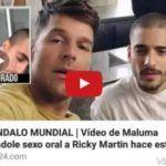 Maluma fazendo boquete em Ricky Martin