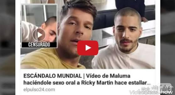 Maluma faz boquete em RIcky Martin