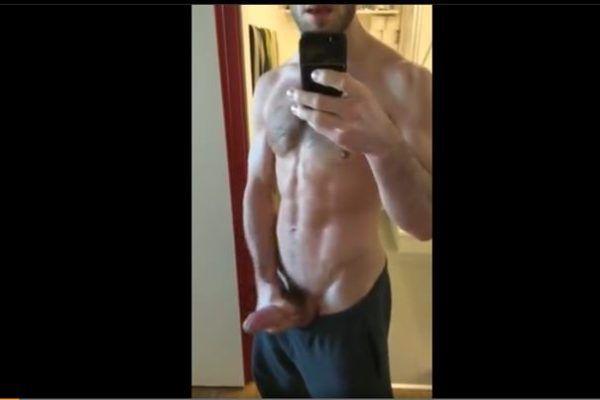 Hétero roludo batendo punheta em vídeo do WhatsApp