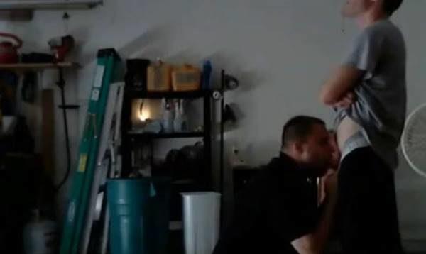 Viado puto caindo de boca na piroca do eletricista hétero em vídeo amdor