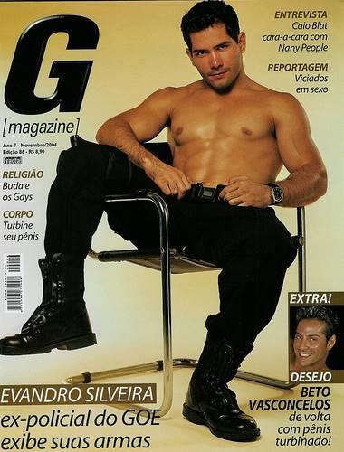 Evandro Silveira pelado para ensaio da G Magazine