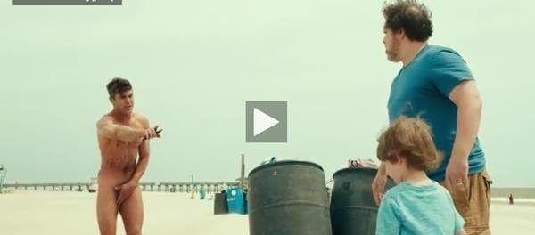 Famoso Zac Efron pelado em filme
