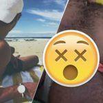 Homem é flagrado dormindo na praia excitado