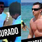 Luciano Huck de pau duro no Snapchat do Hugo Gloss