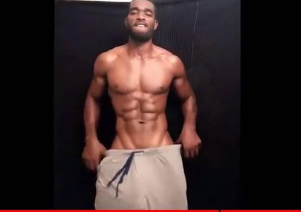 Negro super dotado sensualizando em vídeo