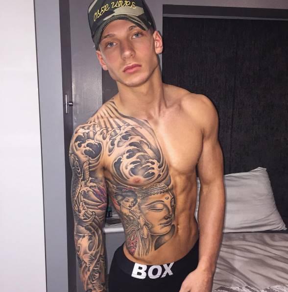 Fotos íntimas do modelo Brandon Myers – Bem dotado