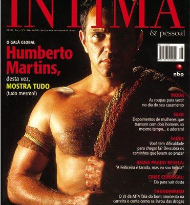 Humberto Martins pelado para revista gay