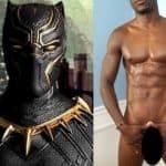 Sósia do Pantera Negra pelado e bem dotado