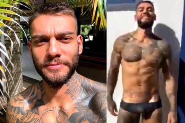 Lucas Lucco de cueca em vídeo - Famosos nus