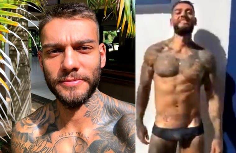 Lucas Lucco de cueca em vídeo – Famosos nus