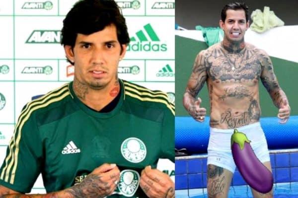 Jogador Victor Ramos marcando a rola na cueca