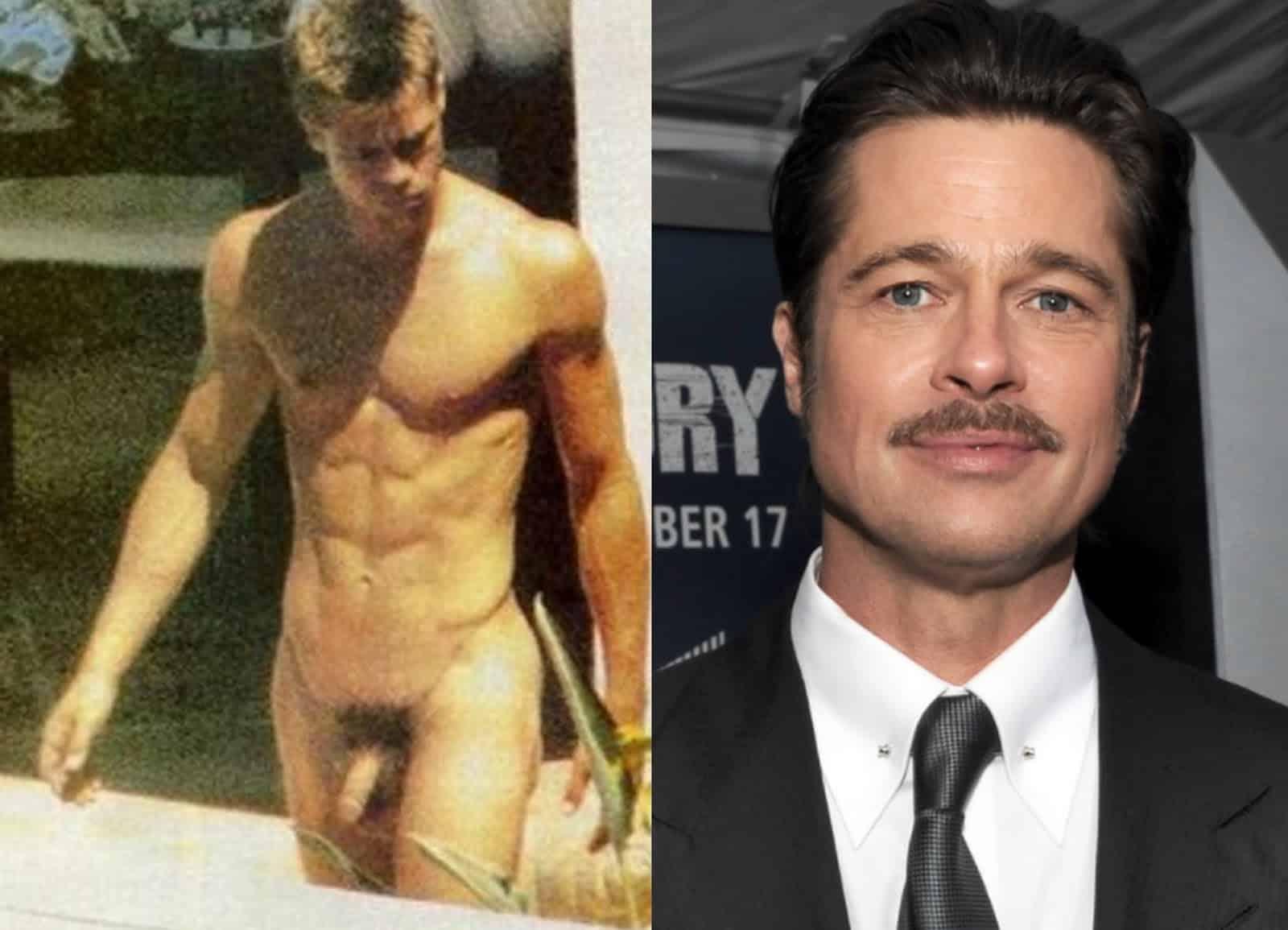 Famosos nus: Brad Pitt e seus amigos famosos pelado