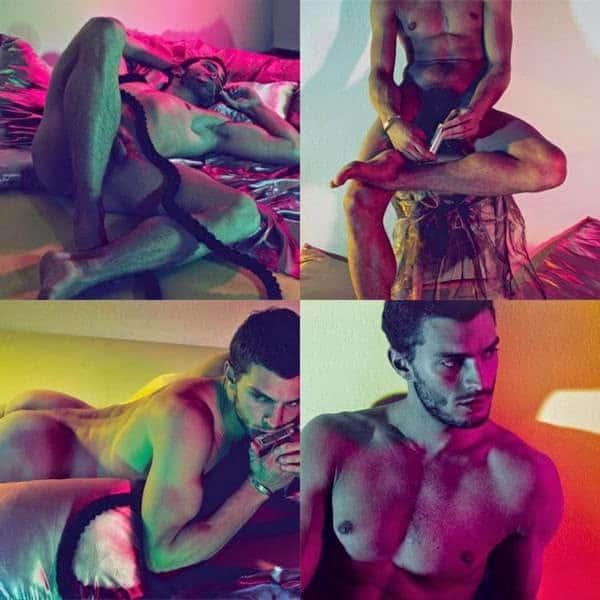 Christian Grey pelado e bem gostoso em fotos e vídeo