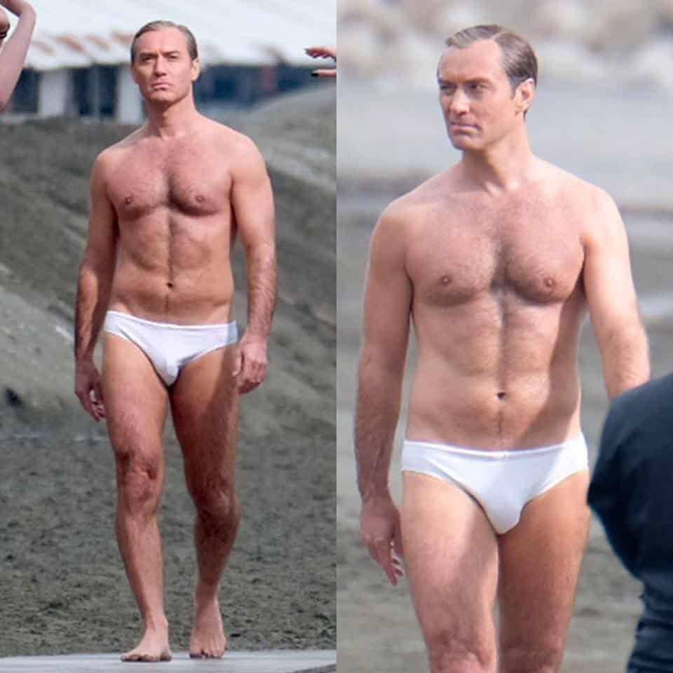 Famoso Jude Law de cueca e bem gostosinho