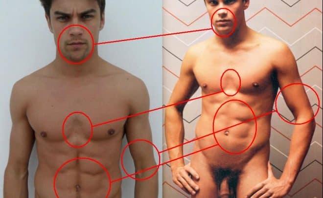 Raphael Sander nu em famosos pelados