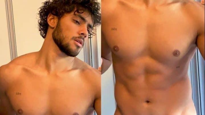 Gabriel Fuentes ator de Malhação sem camisa