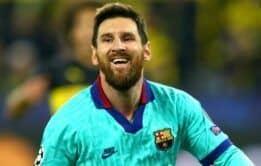 Jogador famoso Messi com a rola marcada