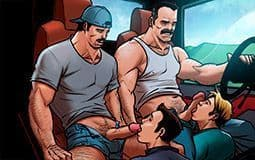 Na boleia do caminhoneiro ogro - Ponto Gay