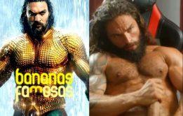 Sósia do Aquaman batendo punheta