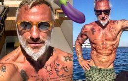Famosos: Sugar daddy Gianluca Vacchi pelado