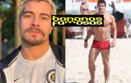 Thiago Martins com o pênis duro na sunga