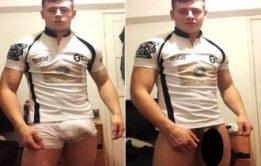 Jogador famoso pelado e dotado De Rugby Luke
