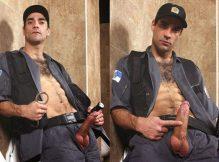 Fotos do policial gostoso, dotado e gato mostando a piroca