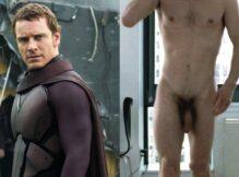 Ator Michael Fassbender, Magneto de X-Men pelado
